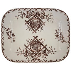 19th Century Staffordshire Aesthetic Movement Transferware Platter, 'Alaska'