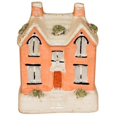 19th Century Staffordshire Cottage Bank