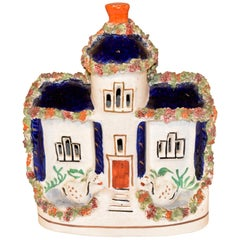 19th Century Staffordshire Cottage with Swans