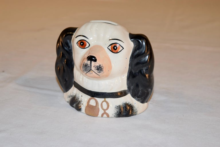 19th Century Staffordshire Dog Bank In Good Condition For Sale In High Point, NC
