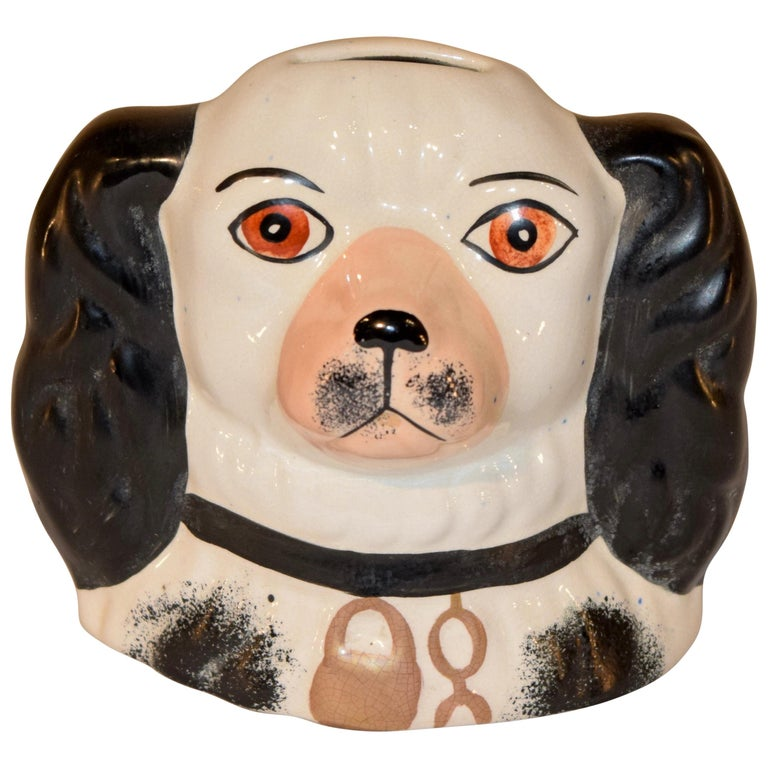 19th Century Staffordshire Dog Bank For Sale