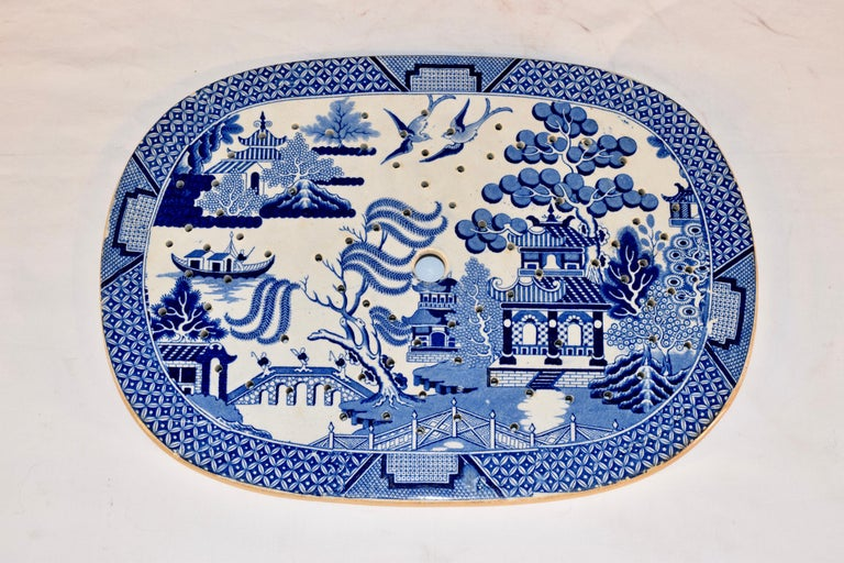 Ceramic 19th Century Staffordshire Drainer For Sale