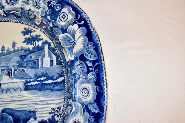Glazed 19th Century Staffordshire 'Philosopher' Platter For Sale