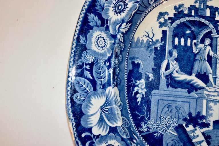 19th Century Staffordshire 'Philosopher' Platter In Good Condition For Sale In High Point, NC