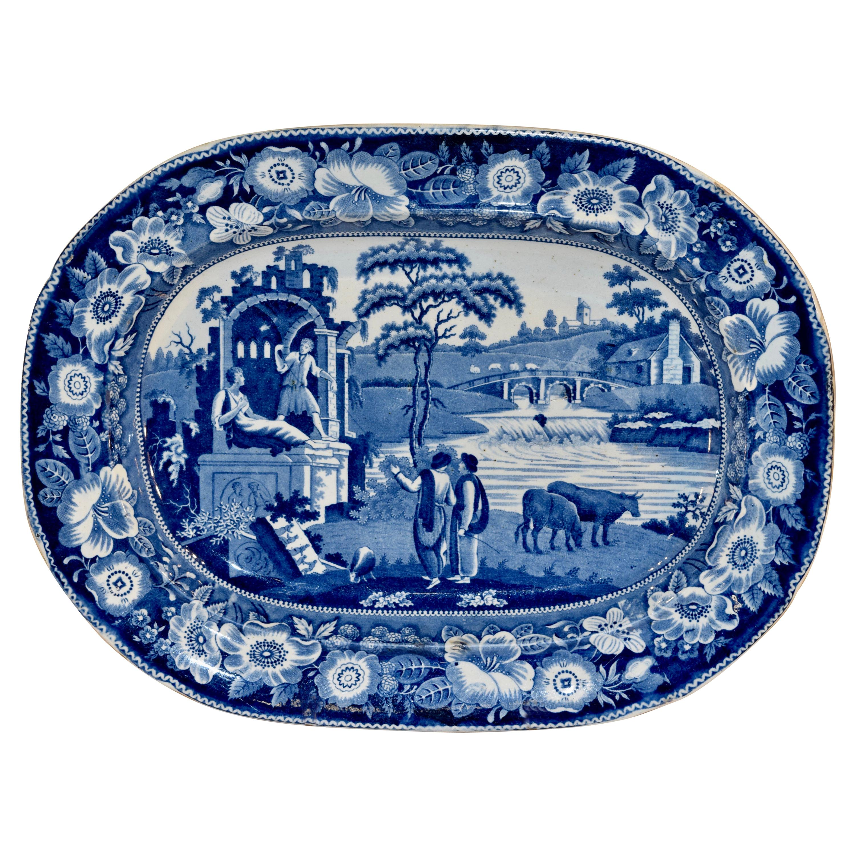 19th Century Staffordshire 'Philosopher' Platter