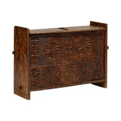 19th Century 'Star Anise' Hand Carved Dowry Textile Chest, Nuristan, Afghanistan