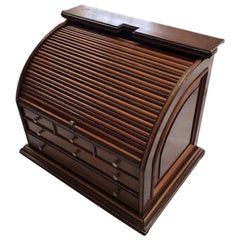 19th Century Stationary Roll Top Bureau/Box