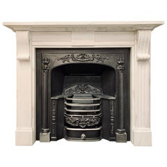 19th Century Statuary Marble Regency Style Fireplace Surround