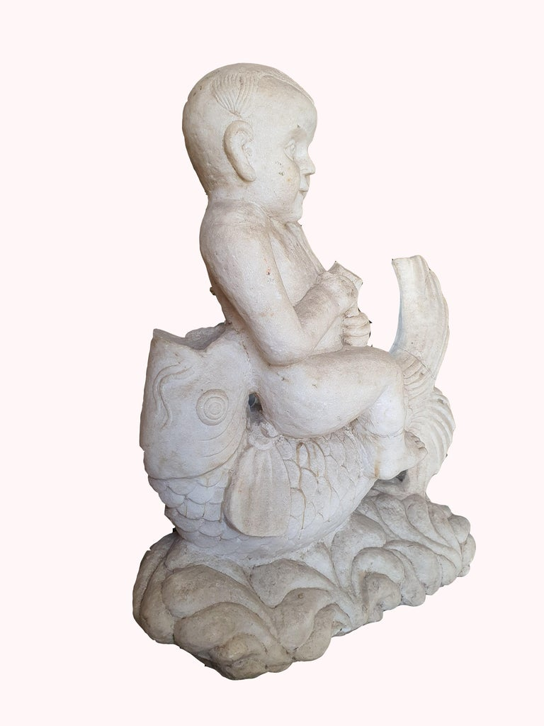 Neoclassical 19th Century Statuary White Marble Sculpture For Sale