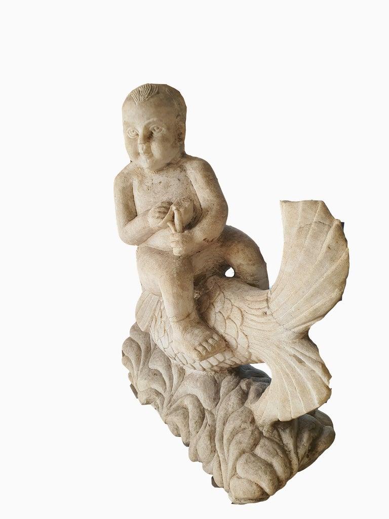 Italian 19th Century Statuary White Marble Sculpture For Sale