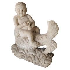 19th Century Statuary White Marble Sculpture