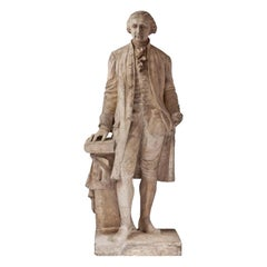 19th Century Statue of George Washington in Plaster of Paris