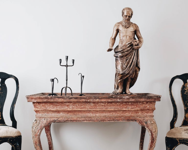 Early 19th Century 19th Century Statue of St Jerome For Sale