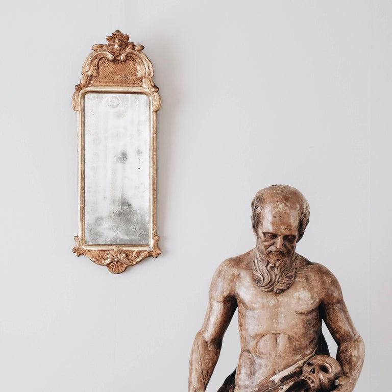 Wood 19th Century Statue of St Jerome For Sale