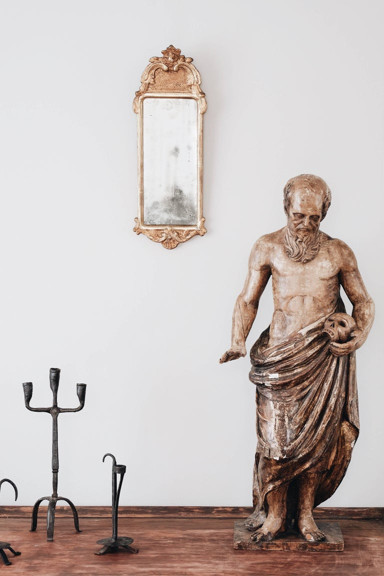 19th Century Statue of St Jerome For Sale 2