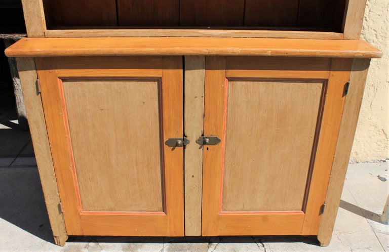 19th Century Stepback Cupboard in Original Painted Surface For Sale 5