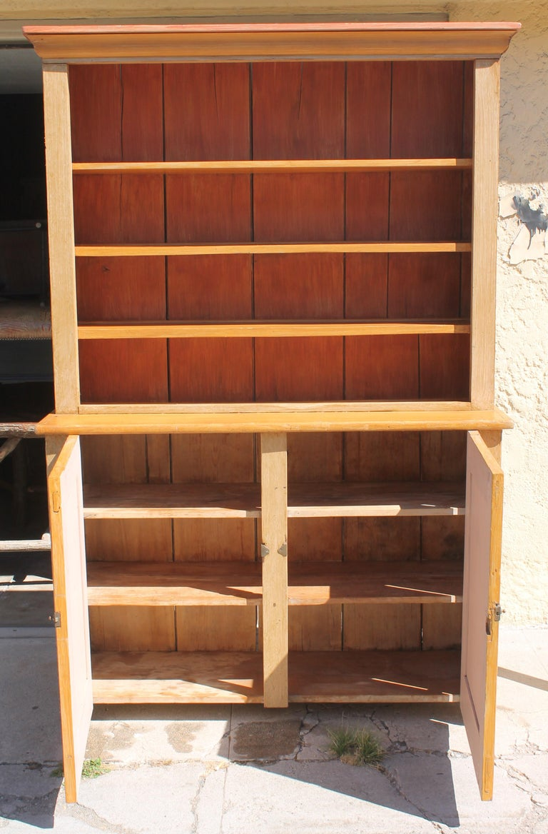 American 19th Century Stepback Cupboard in Original Painted Surface For Sale