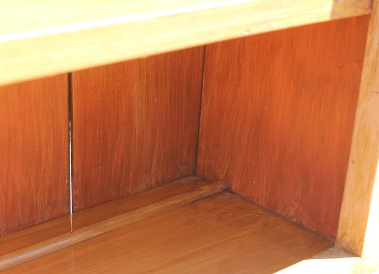 19th Century Stepback Cupboard in Original Painted Surface In Good Condition For Sale In Los Angeles, CA