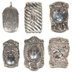 19th Century Sterling Art Nouveau Match Safe Collection