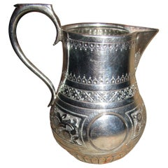 19th Century Sterling Silver Cream Pitcher by Charles Stuart Harris, London