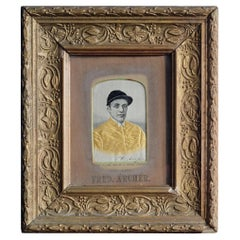 19th Century Stevengraph of Jockey Fred Archer, Silk Picture, Art, Framed