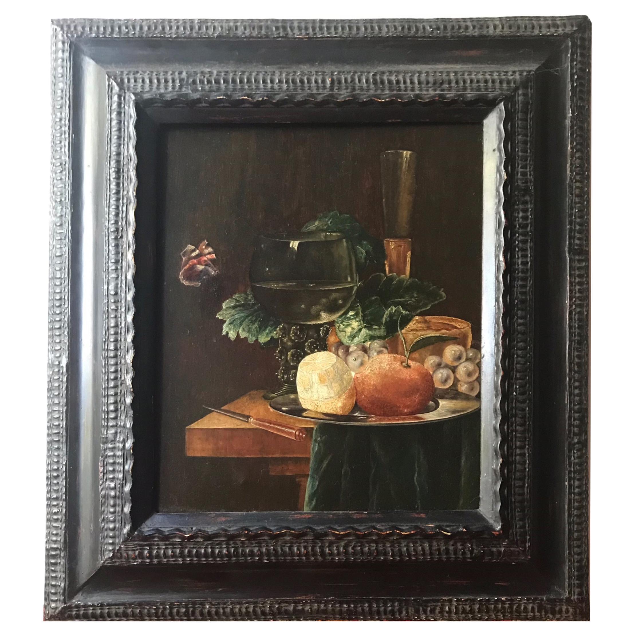 19th Century Still Life Painting After Pieter Claesz Dutch