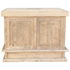 19th Century Stripped Oak Counter / Bar