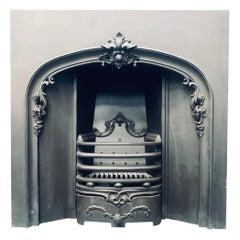 19th Century Style Victorian Arch Cast Iron Fireplace Insert