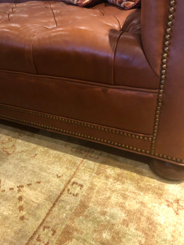 19th Century Styled Brown Leather Chesterfield Sofa 1