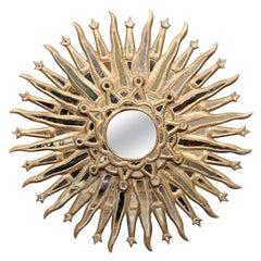 19th Century Sunburst Mirror