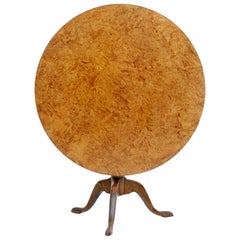 19th Century Swedish Alder Root Tilt Top Table