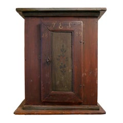 19th Century Swedish Allmoge Wall Cabinet, Dated 1822