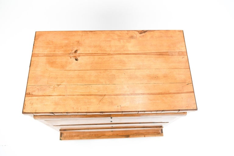 Danish 19th Century Swedish Birch Chest of Drawers For Sale