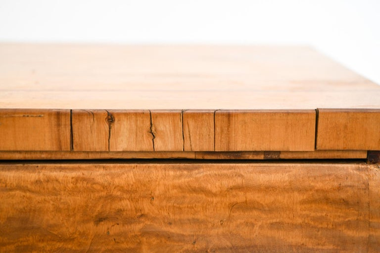 Wood 19th Century Swedish Birch Chest of Drawers For Sale