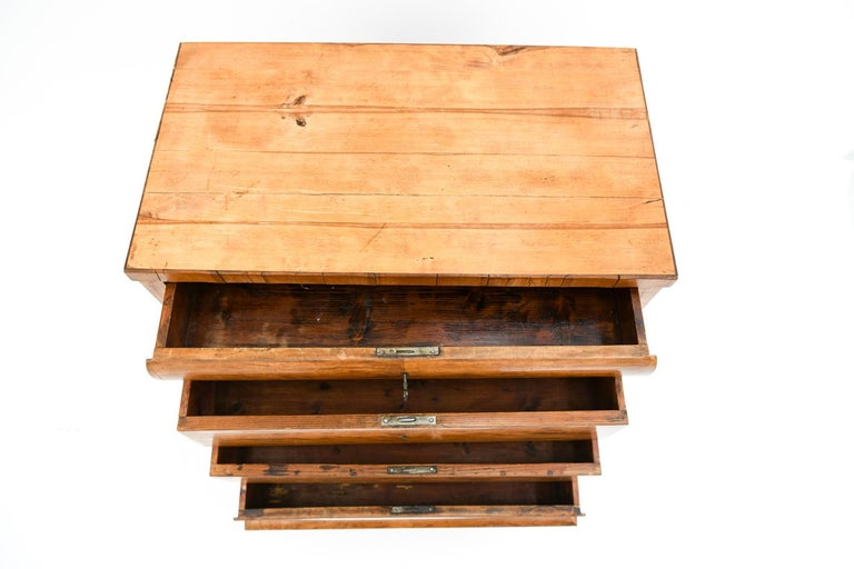 19th Century Swedish Birch Chest of Drawers For Sale 1