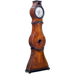 19th Century Swedish Birch Mora Long Case Clock