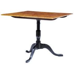 19th Century Swedish Birch Root Tilt Top Table