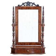 19th Century Swedish Birch Vanity Mirror