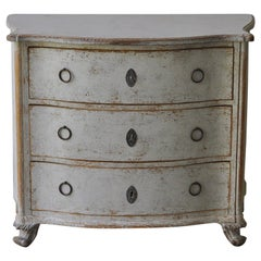 19th Century Swedish Bow Front Commode