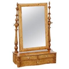 19th Century Swedish Burr Birch Vanity Mirror