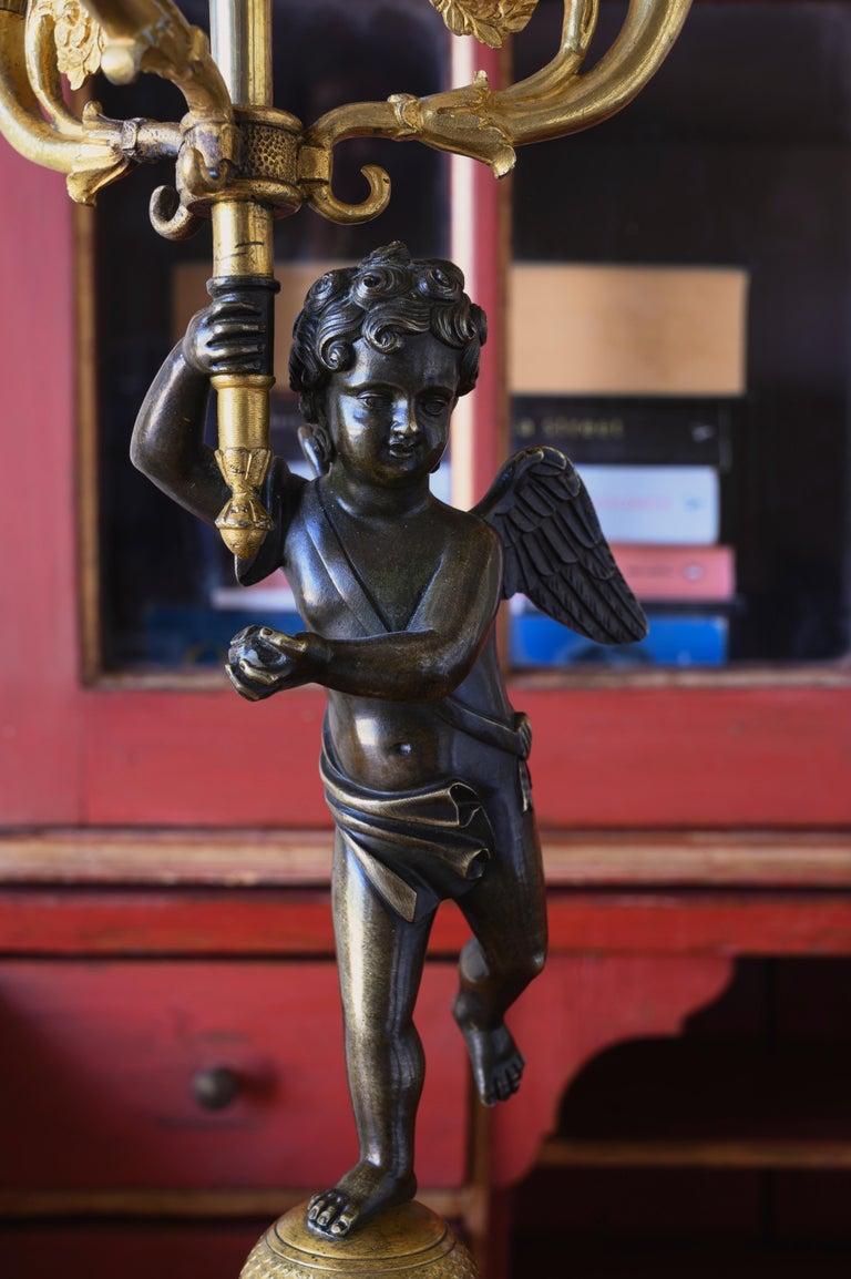 Bronze 19th Century Swedish Candelabra For Sale
