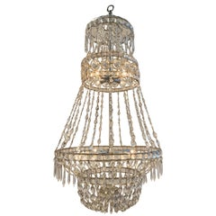 19th Century Swedish Crystal Chandelier