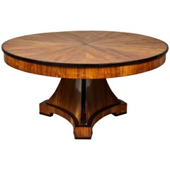 19th Century Swedish Elm Biedermeier Dining Table