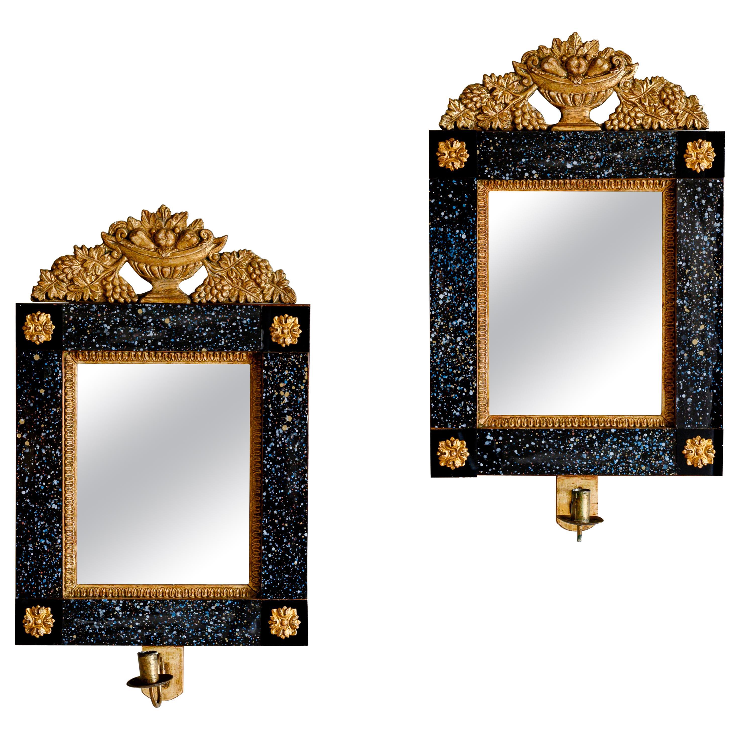 19th Century Swedish Empire Mirror Sconces