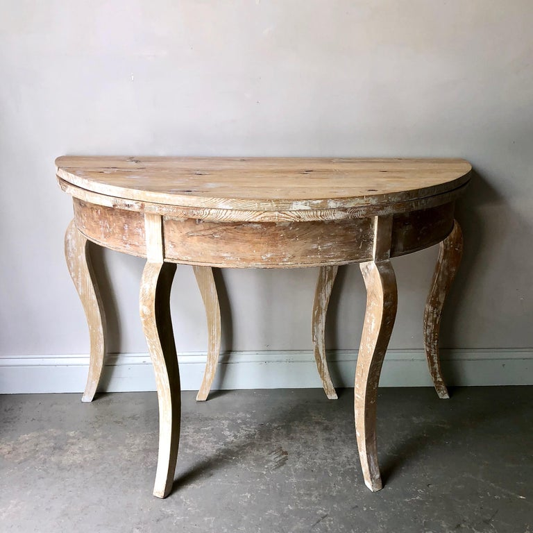 19th Century Swedish Folding Demilune Table At 1stdibs