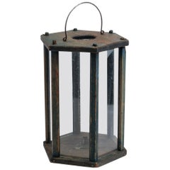 19th Century Swedish Folk Art Lantern in Swedish Pine