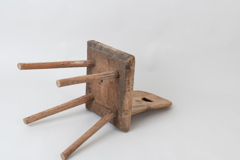 19th Century Swedish Folk Art Rustic Chair For Sale 5