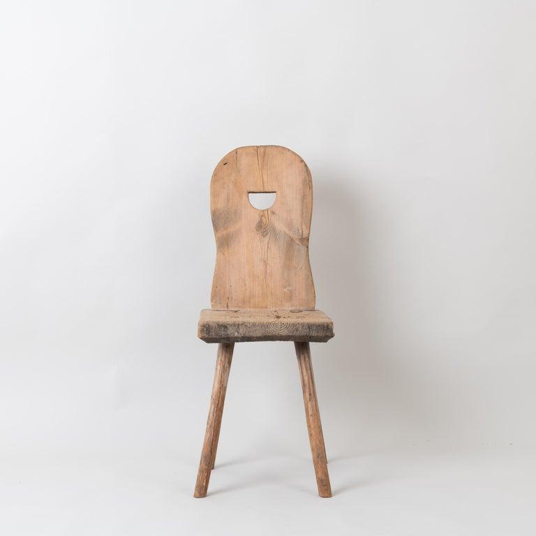 19th Century Swedish Folk Art Rustic Chair For Sale 2