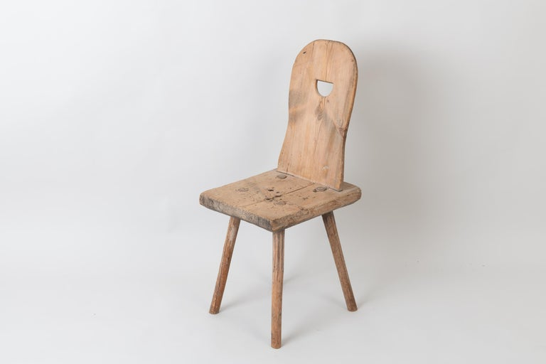 19th Century Swedish Folk Art Rustic Chair For Sale 3