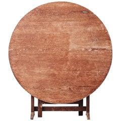 19th Century Swedish Folk Art Tilt-Top Table